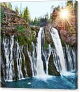 Sunburst Falls - Burney Falls Is One Of The Most Beautiful Waterfalls In California Canvas Print