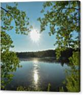 Sunburst Over The Reservoir Canvas Print