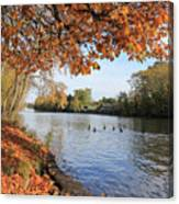 Sunbury On Thames Surrey Uk Canvas Print