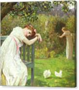 Sunday Afternoon - Ladies In A Garden Canvas Print