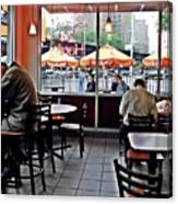 Sunday Afternoon At Dunkin Donuts Canvas Print