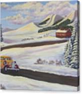 Sunday Drive In Winter Wonderland Canvas Print