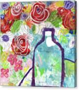 Sunday Market Flowers 2- Art By Linda Woods Canvas Print