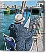 Sunday Painter Canvas Print