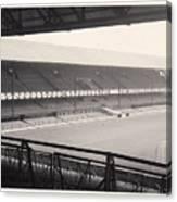 Sunderland - Roker Park - Main Stand 1 - Bw - Leitch - 1960s Canvas Print