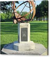 Sundial At American Legion Post, Indianapolis, Indiana Canvas Print
