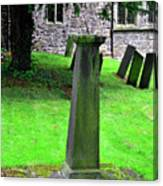 Sundial In St Leonard's Churchyard - Thorpe Canvas Print