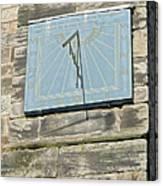 Sundial On St Mary's Church - Tutbury Canvas Print