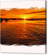 Sundown At Low Tide 2 Canvas Print
