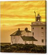 Sundown At The Lighthouse Canvas Print