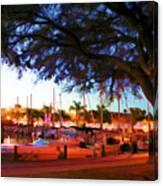 Sundown At The Marina Canvas Print