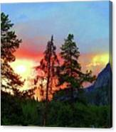 Sundown In Yellowstone Canvas Print