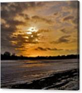 Sundown Over Ice Canvas Print
