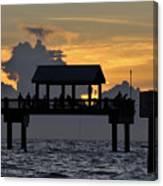 Sundown Pier Canvas Print