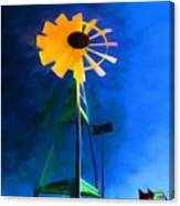 Sunflower And The Wind Spirit Canvas Print
