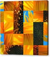 Sunflower Cut-up Canvas Print