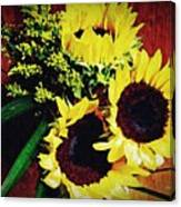 Sunflower Decor 3 Canvas Print