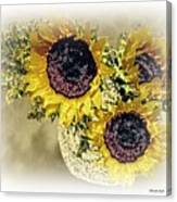 Sunflower Decor 9 Canvas Print