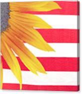 Sunflower Flag Canvas Print