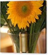 Sunflower In A Bottle Or Is It  Vase. Canvas Print