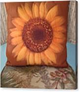 Sunflower Pillow Canvas Print