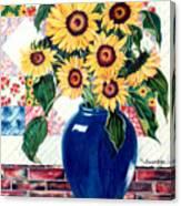 Sunflower Quilt Canvas Print