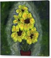 Sunflower Season - Www.jennifer-d-art.com Canvas Print