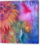 Sunflower Splash Canvas Print