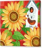 Sunflower Surprise Canvas Print