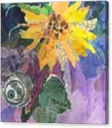 Sunflower Tall Canvas Print
