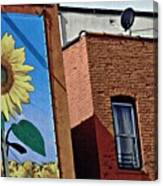 Sunflower Town Canvas Print