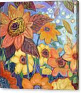 Sunflower Tropics Part 1 Canvas Print