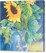 Sunflower with Oranges and Plums Canvas Print