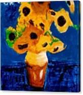 Sunflowers After Vincent Van Gogh Canvas Print