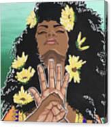 Sunflowers And Dashiki Canvas Print