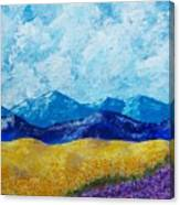 Sunflowers And Lavender In Provence Canvas Print