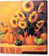 Sunflowers And Squash Canvas Print