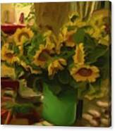 Sunflowers At The Market Canvas Print