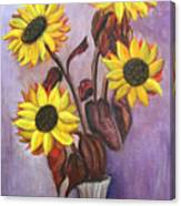 Sunflowers For My Daughter Canvas Print