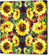 Sunflowers Impressionism Pattern Canvas Print