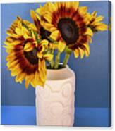 Sunflowers In Circle Vase Tournesols Canvas Print
