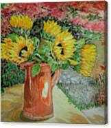 Sunflowers In Copper Canvas Print