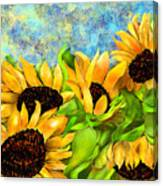 Sunflowers On Holiday Canvas Print