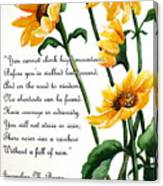 Sunflowers  Poem Canvas Print