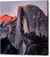 Sunkiss On Half Dome Canvas Print