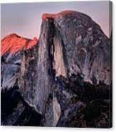 Sunkiss On Half Dome Canvas Print