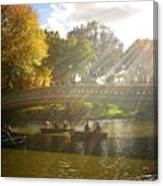 Sunlight And Boats - Central Park -  New York City Canvas Print