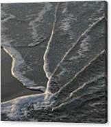Sunlit Beach Wave Canvas Print