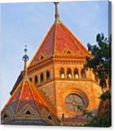Sunlit Church Aglow Canvas Print