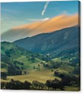 Sunlit Clouds On A Ridge Canvas Print